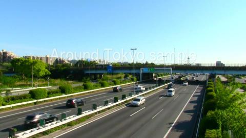Bayshore route of shuto expressway timelaps ビデオ