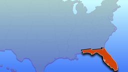 Animated map of Florida Footage