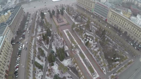The Square of Fallen Soldiers in Volgograd, Russia. Aerial view Footage