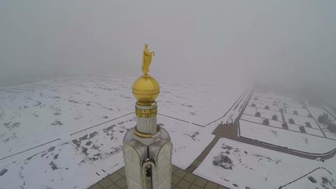 Belfry in Prokhorovka, Kursk Salient. Aerial view Footage