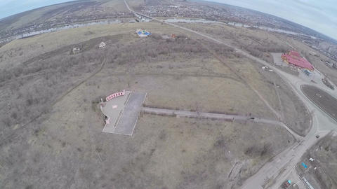 Flying over The Height of Immortality Memorial Complex Live Action