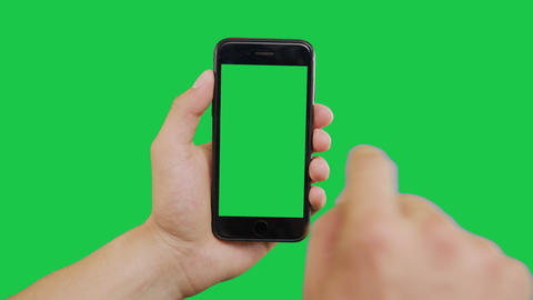 Swipes Smartphone Green Screen Archivo