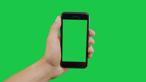Click Smartphone Green Screen Archivo