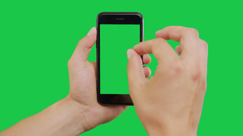 Zooming Smartphone Green Screen Archivo
