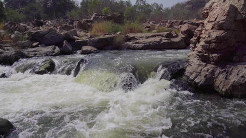 Stormy river in India Footage