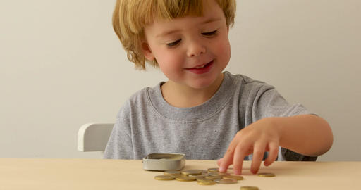 Children with Saving Money for Education Footage