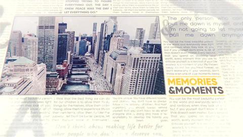 Newspaper History Slideshow After Effectsテンプレート