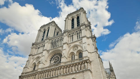 Time Lapse of the famous Notre Dame Cathedral in Paris France Footage