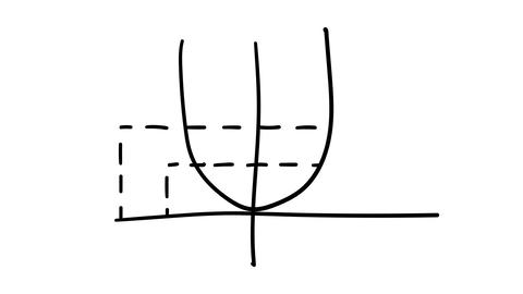 Infographic element - hand-drawn graph of a parabola Footage