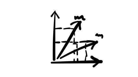 Freehand drawing and animated graph with diagonal keys Footage