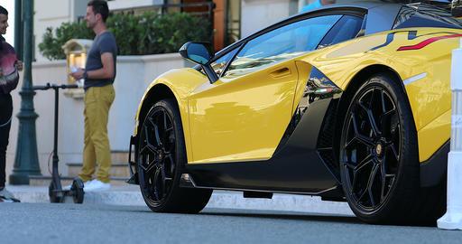 Yellow Lamborghini Aventador SVJ Footage