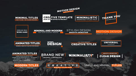 20 Animated Titles II Motion Graphics Template