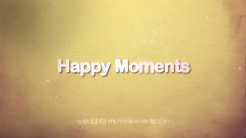 Memory romantic slideshow (After Effects template) After Effectsテンプレート