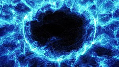 Light FX2069: Fractal light strands ripple and shine Animation