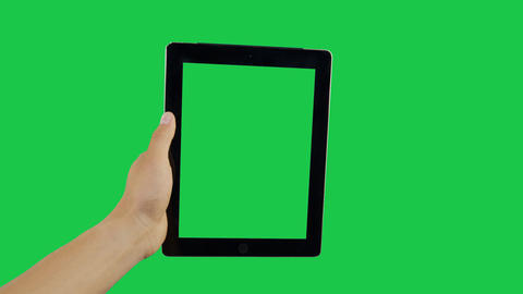 Zoom Digital Tablet Green Screen Archivo