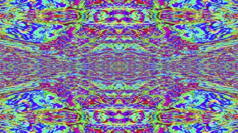 Kaleidoscope geometrical nostalgic elegant shimmering background Footage