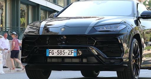 Luxury Black Lamborghini Urus SUV Live Action