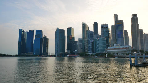 Singapore cityscape at the sunset Footage