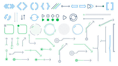Arrows and infographic elements on the white background Videos animados