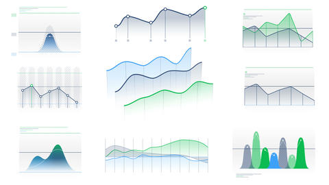 Animated infographic elements without data Videos animados