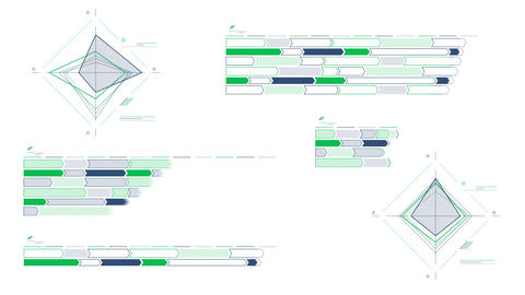 Infographic schemes on the white background Videos animados