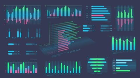 Set of decorative infographic data Videos animados