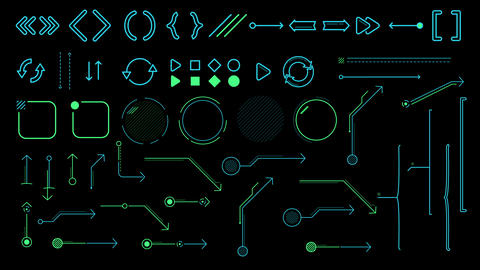 Collection of animated infographic elements and arrows Videos animados