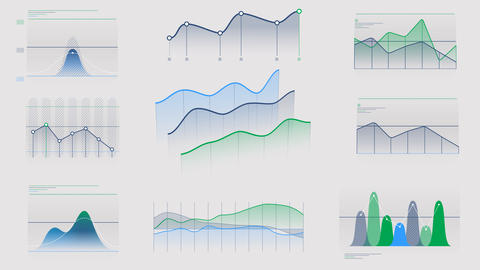 Animated infographics without data on alpha channel Videos animados