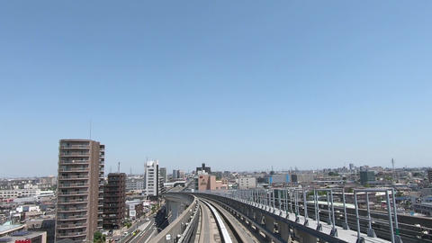 Japanese train travel video. Drive through a residential area ライブ動画
