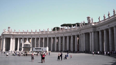 St. Peter's Square Vatican City Live Action