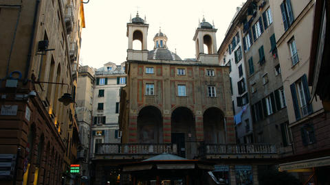 Church of San Pietro in Banchi, in the historic center of Genoa, located in Footage