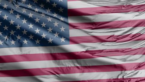 USA Flag Real Animation Loop GIF