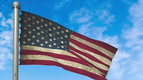 America flag waving animation with alpha Animation