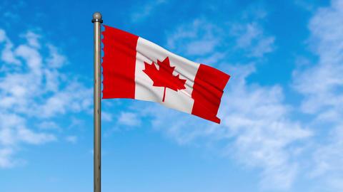 Canada flag waving animation with alpha Animation