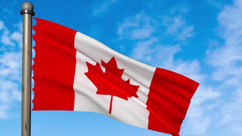 カナダ 国旗 国 旗 フラッグ アニメーション CG動画