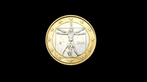 euro coin turning animation alpha Animation