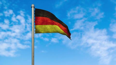 ドイツ 国旗 国 旗 フラッグ アニメーション CG動画