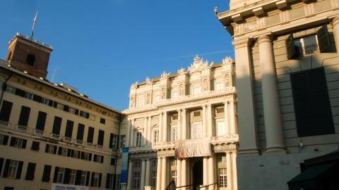 Carlo Felice theater, in the historic center of Genoa GIF