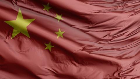 China Flag Real Animation Loop GIF