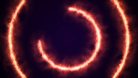 Beautiful Ring of Fire Looped Animation