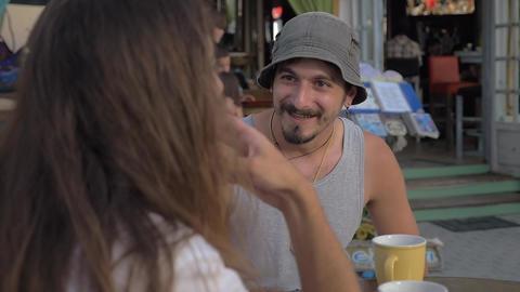 Emotional Man Having Conversation Footage