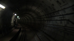 Going through the underground tunnel Footage