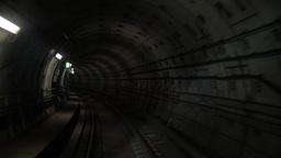 Going through the underground tunnel Footage