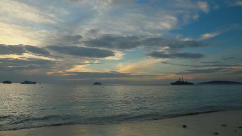 Morning ocean landscape Footage