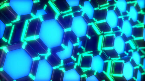 Neon Lights Hexagon vj loop side view CG動画素材