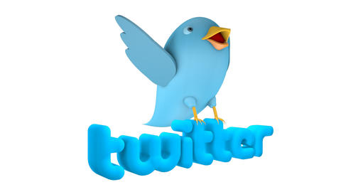Twitter logo cartoon spin loop Animation