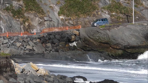 Cape Palliser track, New Zealand Footage