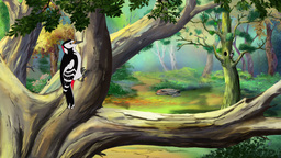 Great Spotted Woodpecker UHD Animation