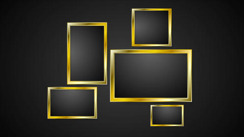 Blank golden frames abstract video animation Animation