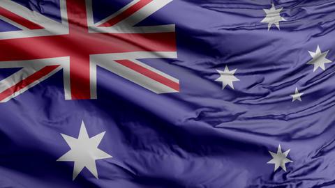 Australia Flag Real Animation Loop GIF